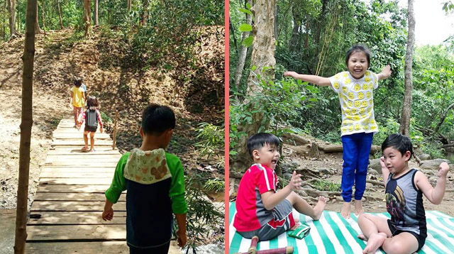 Trekking in a Subic Forest Serves as a School for These Kids Once a Week