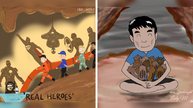 These Beautiful Drawings of the Thai Cave Rescue Will Warm Your Hearts