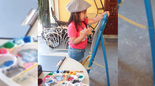 How Parents of This 7-Year-Old Encourages Her Talent for Drawing