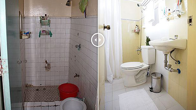 These 5 Tiny Bathroom Makeovers Show Clever Space Solutions