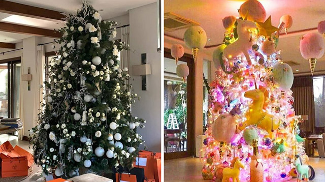 These Celebrity Christmas Trees Have Swans and Unicorns as Decor!