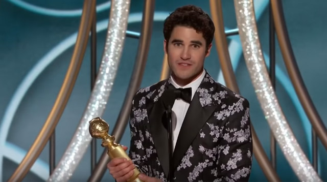 Former Glee Star Darren Criss Dedicates His Golden Globe Win to His Filipino Mom