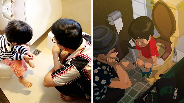 Single Dad Draws the Sweetest and Craziest Moments With His Son
