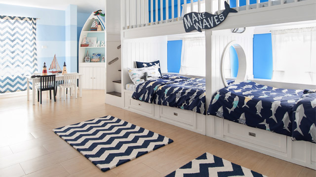 Look How One Mom Turned Her Kids' Bedroom Into a Nautical Dreamland!