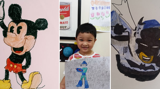 Mom Shares Laid-Back Secret to Nurturing Her Son's Drawing Skills
