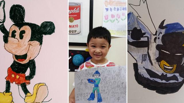 Mom Shares Laid-Back Secret to Nurturing Her Son's Drawing Skills