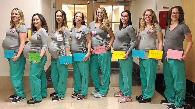 Baby Boom! 9 Labor and Delivery Nurses Pregnant at the Same Time!