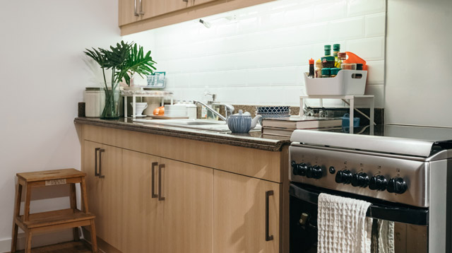 There's a Secret Trick to Keeping a Small Kitchen Neat and Clean