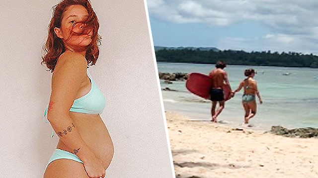 LOOK: Andi Eigenmann Can Still Surf Even With a Growing Baby Bump!