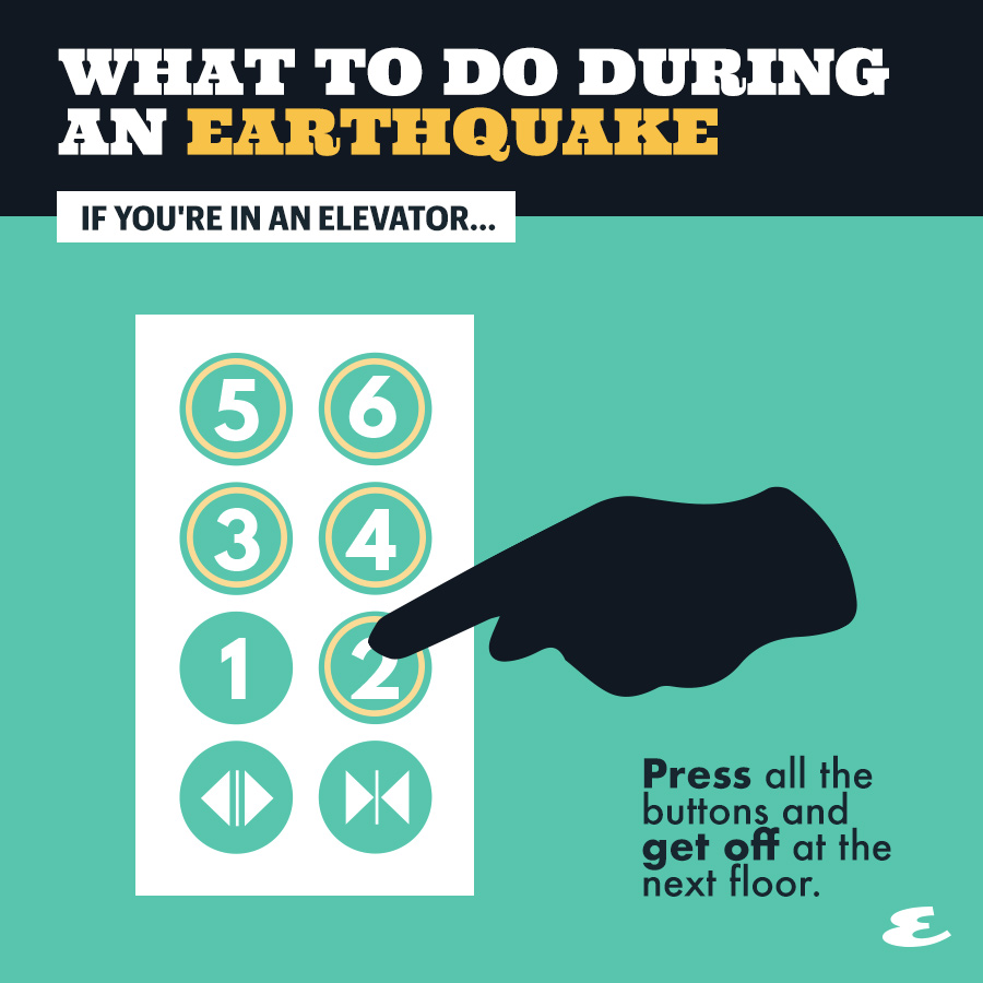 what to do earthquake elevator