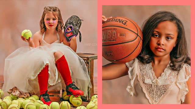 This Mom Took Photos of Young Girls as Princesses and Athletes Because Girls Can 'Do It All'