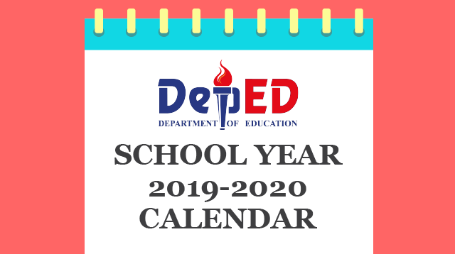 DepEd Releases Calendar for School Year 2019-2020 (Plus Holidays)