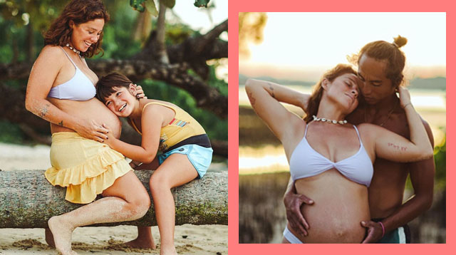 LOOK: Andi Eigenmann Posts Beautiful Photos of Sunset Maternity Shoot in Siargao