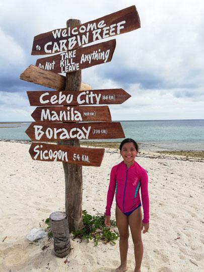 snorkeling Carbin Reef