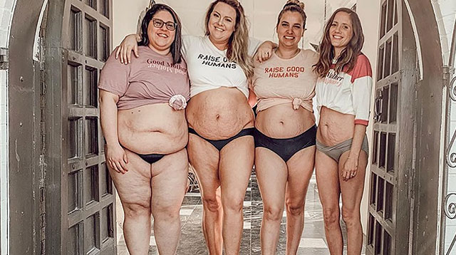 Bashed Online, Moms' Postpartum Body Photo Calls on Women to Celebrate Their Shape