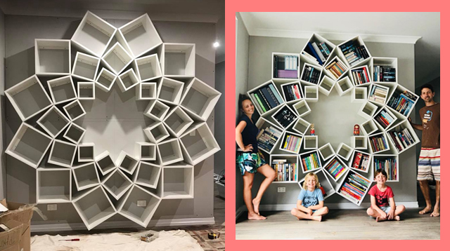 This Australian Couple Wanted a Unique Bookcase. You Have to See the Jaw-Dropping DIY