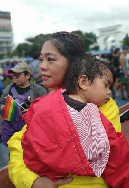family pride march