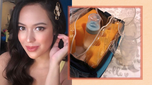 Karel Marquez Keeps Breast Milk Letdown Fresh Overnight Without a Ref