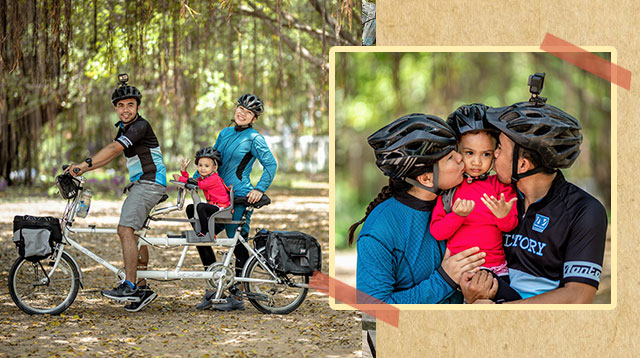 Pinoy Missionary Couple Biked Their Way Through 4 Countries With Their Toddler in Tow!