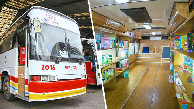 Company Transforms Its Old Bus Into a Library on Wheels to Tutor Kids