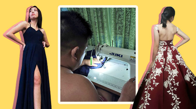 Galing ni Daddy! This Public School Teacher Makes Gorgeous Gowns for His Daughters