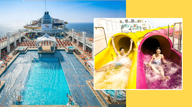 This Cruise Ship Has Water Slides, Rope Courses, And A Zip Line!