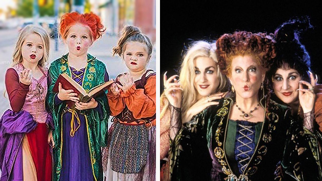 Sisters Dress Up As Witches From 'Hocus Pocus' For Halloween