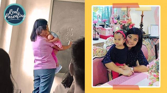 Pinay Public School Teacher And Mom Takes Toddler To Class So She Wouldn't Miss Work