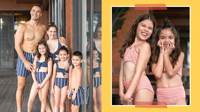 Team Kramer Unveils Their Newest Collection Of Matching Swimwear For The Whole Family!