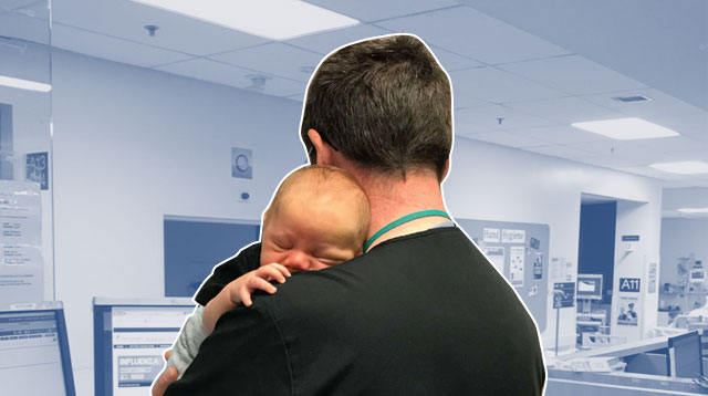 Doctor Cuddling Baby To Sleep: 'Sometimes You Just Need A Hug'