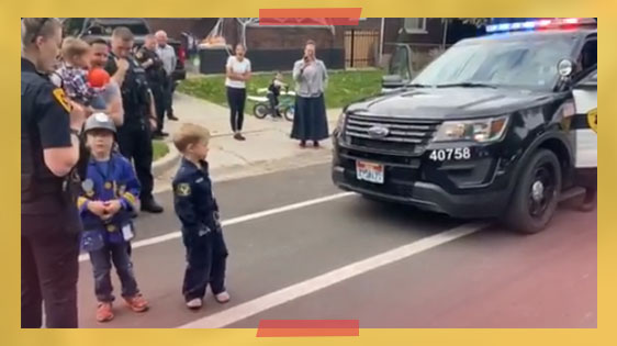 Little Boy Invited Police Officers To His Birthday, So They Gave Him A Special Shoutout!