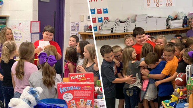 Students Organized A 'Toy Drive' For Their Classmate Who Lost His Things In A Fire