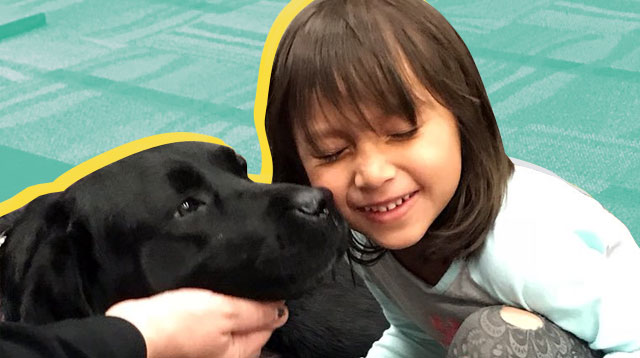 LOOK: Dogs Keeping Kids Company at Library Is Cuteness Overload