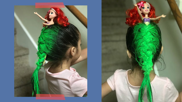Girl's Little Mermaid-Themed Hair Blows Competition Out Of The Water