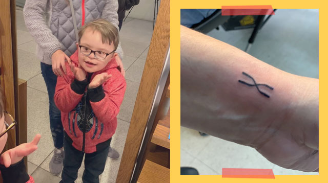 Parents Get Matching Chromosome Tattoos In Honor Of Son With Down Syndrome