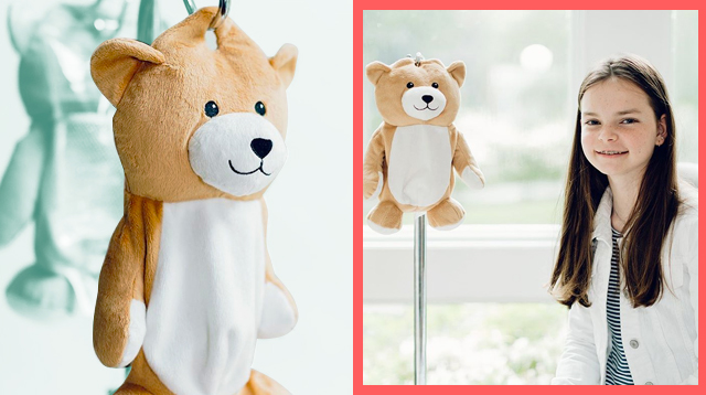12-Year-Old With Rare Disorder Invents Special Teddy Bear To Make IV Bags Less Scary