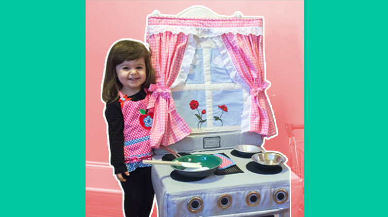 Wow! Lola Sews Chair Cover That Doubles As An Adorable Play Kitchen
