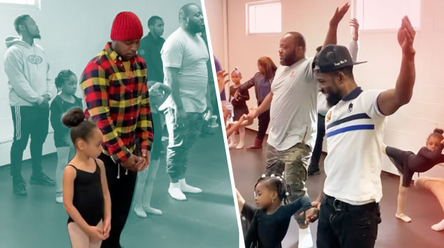 Dads Learn Ballet With Their Daughters In This Adorable Dance Class!