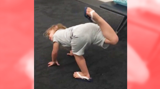 Check Out This Adorable Two-Year-Old's Impressive Yoga Moves