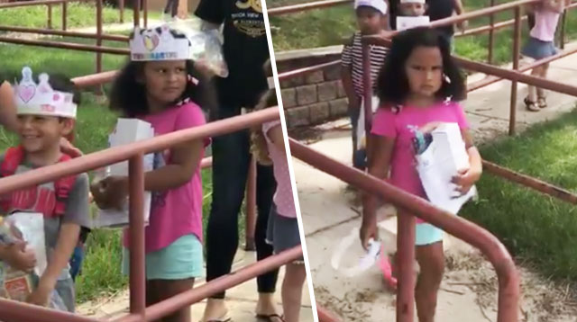 This Little Girl Just Started Kindergarten and She's Already Over It