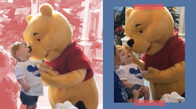 Disney World's Winnie the Pooh Shares Tender Moment With Special Needs Child