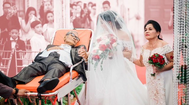 Gravely Ill Father 'Walks' Daughter Down the Aisle on Her Wedding Day