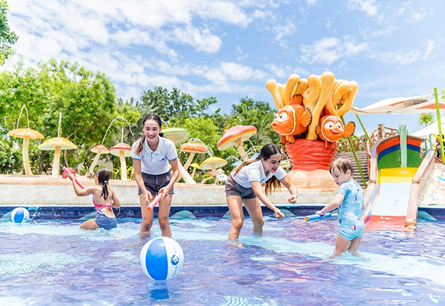 This Water Park Has 6 Themed Swimming Pools Including a 'Lazy River' And 'Space Bowl'