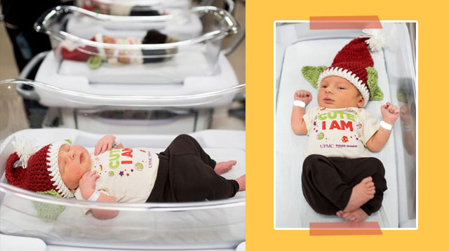 The Cuteness Force Is Strong With These Babies Dressed As Baby Yoda For Christmas!
