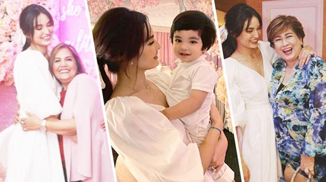 Kasama Ni Sarah Lahbati Ang Kanyang Bunso, Mom, At MIL Sa Bridal Shower