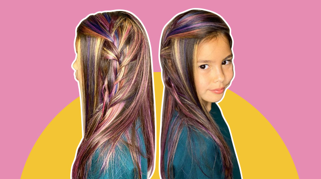 LOOK: Kendra Kramer's Unicorn-Streak Hair To-'Dye' For!