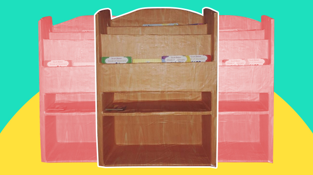 DIY Cardboard Box Bookshelf Sa Halagang P500