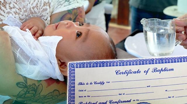 How To Obtain A Copy Of Your Child's Baptismal Certificate