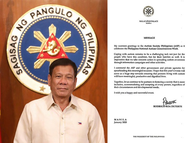 Autism Society Philippines Rodrigo Duterte