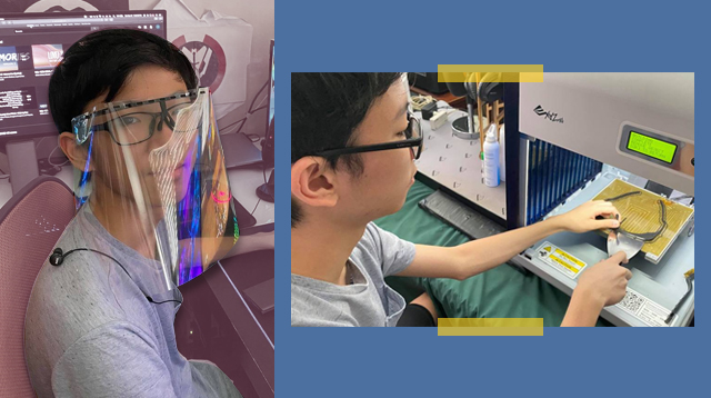 Look: 16-Year-Old Student Creates 3D-Printed Face Shield Frames To Help Frontliners